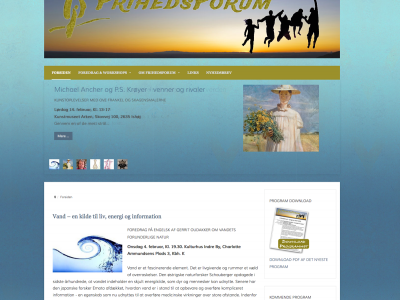 Frihedsforum.dk - upgrade to Joomla website for organization that promotes events in Copenhagen