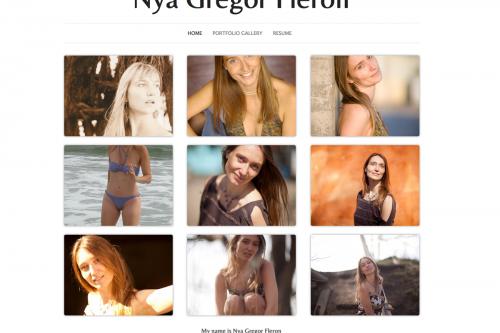 Web Portfolio Solution for Actors & Models Design Package 1